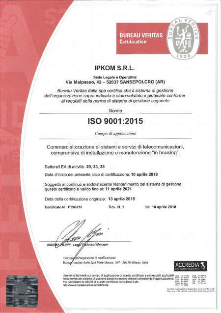 ISO 9001 - Centralino-Cloud.it