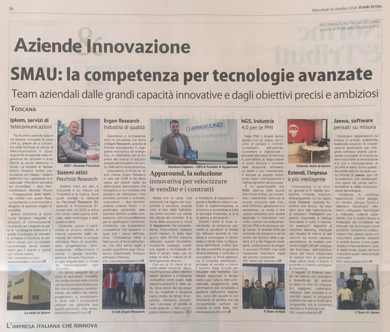SMAU : IPKom Azienda Innovativa - Centralino-Cloud.it